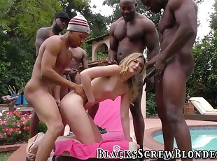 Gang banged girls, hard fucked from both side models, Gang bang
