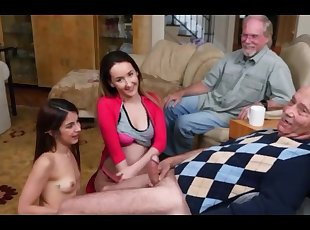 Old man machos last chance to have sex with young beauty, Daddie